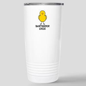 Bartender Chick Stainless Steel Travel Mug
