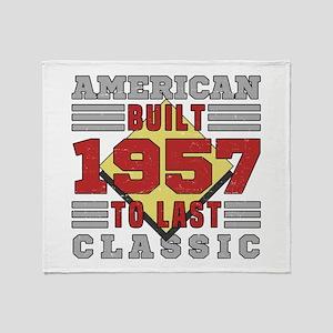 1957 American Classic Throw Blanket