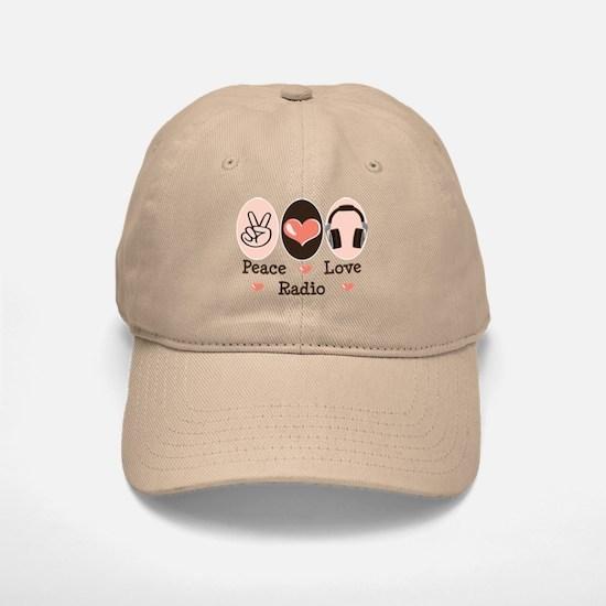 Peace Love Radio Baseball Baseball Cap