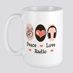 Peace Love Radio Large Mug