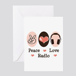 Peace Love Radio Greeting Card