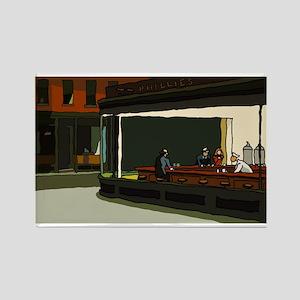 Nighthawks - S.F. Masterpiece Rectangle Magnet