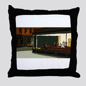 Nighthawks - S.F. Masterpiece Throw Pillow