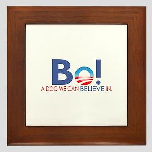 Bo Obama Framed Tile