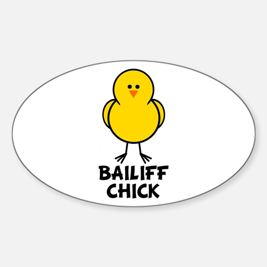 Bailiff Chick Oval Decal