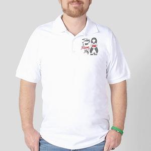Missing 1 Dad BRAIN CANCER Golf Shirt