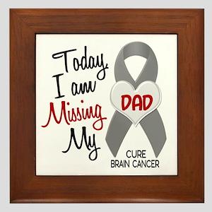Missing 1 Dad BRAIN CANCER Framed Tile