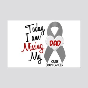 Missing 1 Dad BRAIN CANCER Mini Poster Print
