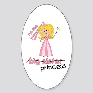 big sister t-shirts princess cross Oval Sticker