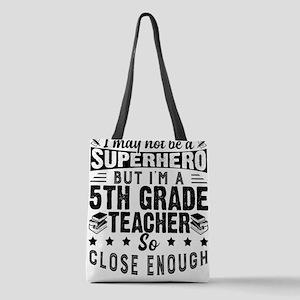 Proud 5th Grade Teacher Polyester Tote Bag
