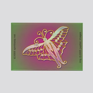 Christmas Butterfly Rectangle Magnet