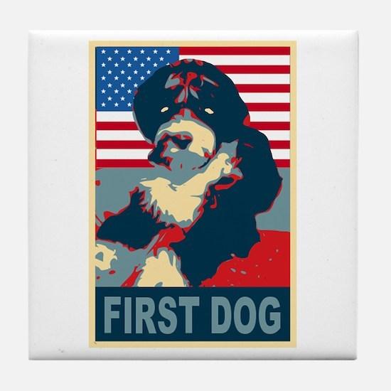 First Dog BO Obama Tile Coaster