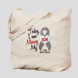 Missing 1 Son BRAIN CANCER Tote Bag