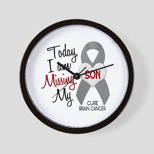 Missing 1 Son BRAIN CANCER Wall Clock