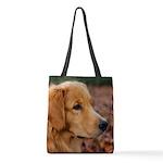Golden Retriever Polyester Tote Bag