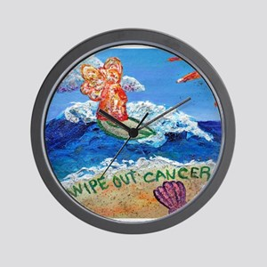 Wipe Out Cancer Angel Wall Clock