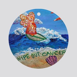 Wipe Out Cancer Angel Ornament (Round)