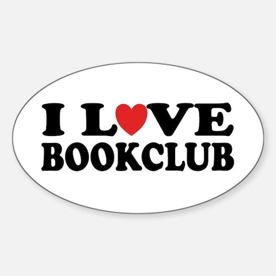I Love Book Club Oval Decal