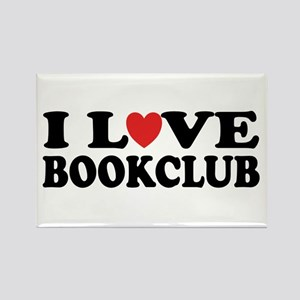 I Love Book Club Rectangle Magnet