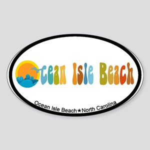 Ocean Isle Beach NC Oval Sticker