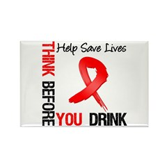 Think Before You Drink Rectangle Magnet (10 pack)