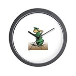Orange Forest Rabbit Wall Clock