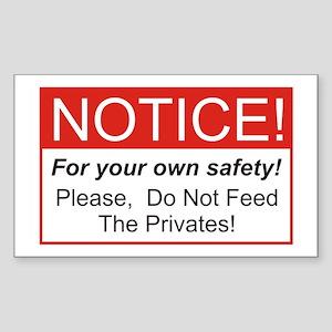 Notice / Privates Rectangle Sticker