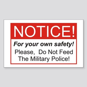 Notice / Military Police Rectangle Sticker