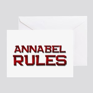 annabel rules Greeting Card