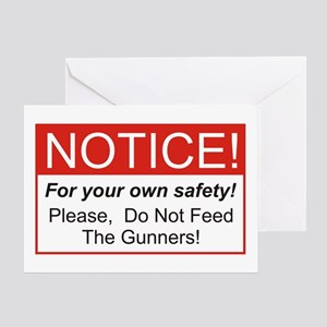 Notice / Gunners Greeting Card