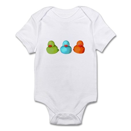 Three Rubber Ducks Infant Bodysuit