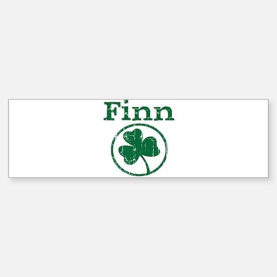 Finn shamrock Bumper Bumper Bumper Sticker
