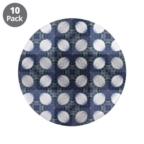 """Amoeba Squares 3.5"""" Button (10 pack)"""