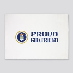 USAF: Proud Girlfriend 5'x7'Area Rug