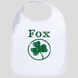 Fox shamrock Bib