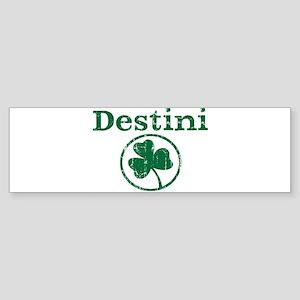 Destini shamrock Bumper Sticker
