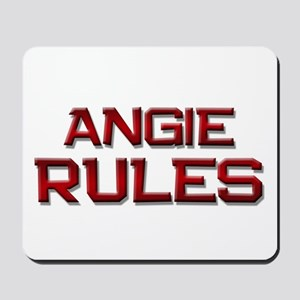 angie rules Mousepad