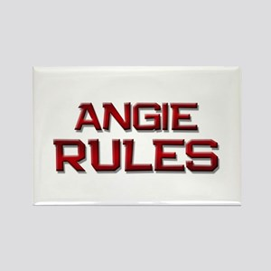 angie rules Rectangle Magnet