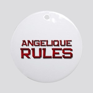 angelique rules Ornament (Round)