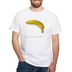 Fully Erect Banana Offensive White T-Shirt