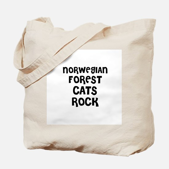NORWEGIAN FOREST CATS ROCK Tote Bag