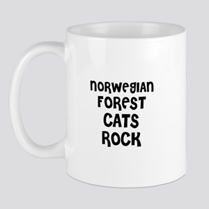 NORWEGIAN FOREST CATS ROCK Mug