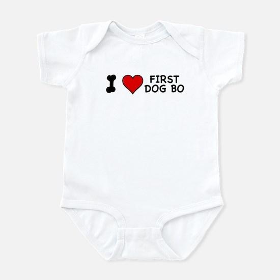 I Love First Dog Bo Infant Bodysuit