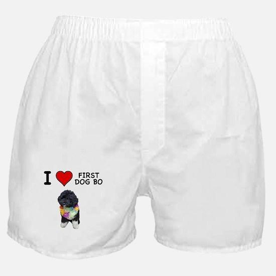 I Love First Dog Bo Boxer Shorts