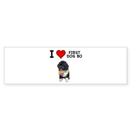 I Love First Dog Bo Bumper Sticker
