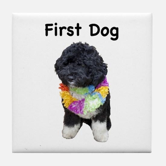 First Dog Bo Tile Coaster
