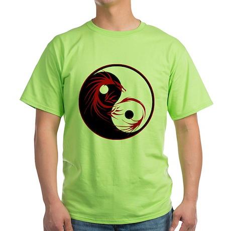 Yin Yang Dragon Green T-Shirt