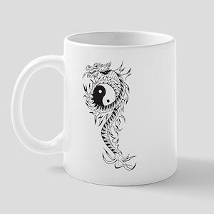 Yin Yang Dragon Mug
