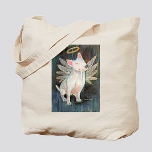 """Angel"" a Bull Terrier Tote Bag"