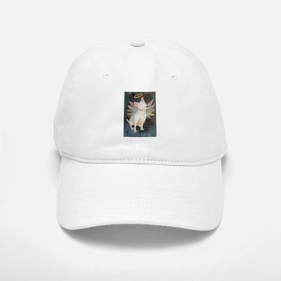 """Angel"" a Bull Terrier Baseball Baseball Cap"
